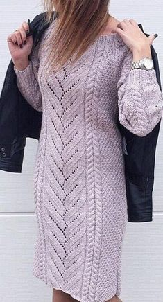Discussion on LiveInternet - Russian Service Online Diaries Lace Knitting, Knitting Stitches, Knitting Designs, Crochet Baby Poncho, Knit Crochet, Sewing Clothes, Crochet Clothes, Knitted Coat, Diy Dress