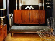 Wooden Sideboard mid-century modern