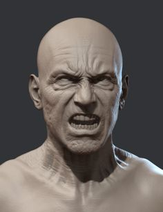 Anger expression, Jon Berry on ArtStation at https://www.artstation.com/artwork/anger-expression