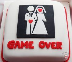 Game Over Cake Torta Addio al nubilato/celibato