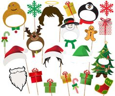 Christmas Photo Booth Props: CHRISTMAS PARTY by stickericashop