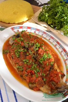 Fish Recipes, My Recipes, Romanian Food, Hungarian Recipes, Fish And Seafood, Meatloaf, Beef, Crap, Meals