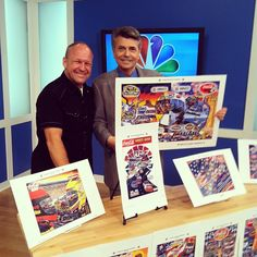 Thanks to @Sam Bass Artist for showing some of his #NASCAR art during todays Larrys Look.