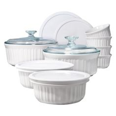 So classic! Add a Corningware 14 piece White Bake Set to your wedding registry.