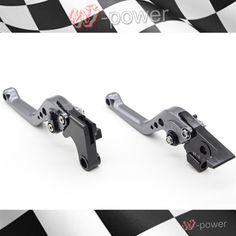 For HONDA NC700X NC700S / X NC750S / X Motorcycle Accessories CNC billet aluminum short brake clutch lever gray