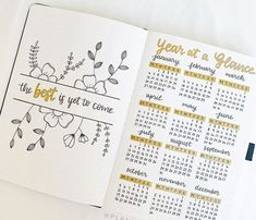 23 Bullet Journal Year At A Glance Ideas You'll Love - The Creatives Hour