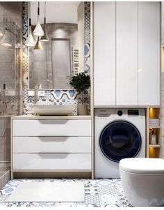 59 New Ideas For Bathroom Design Small White Mirror Laundry Room Bathroom, White Bathroom, Bathroom Storage, Modern Bathroom, Bath Room, Mirror Bathroom, Rustic Bathrooms, Dream Bathrooms, Amazing Bathrooms