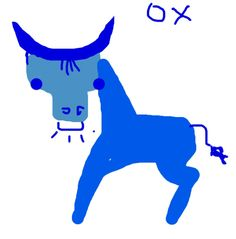 Ox in DrawSomething.