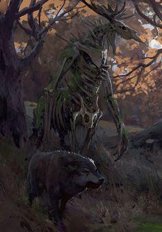 Fantasy Art Watch Character Art, Fantasy Forest, Dream Fantasy, Fantasy World, Monster Concept Art, Monster Art, Fantasy Monster, The Wendigo, Forest Creatures