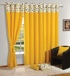 Simple living room curtains behind couch ideas Ruth Simple Curtain Ideas Excellent Wonderful Living Room Design For Home Interiors Grey Sofa Fre Santosangelesco Living Room Curtain Ideas Santosangelesco Curtains Living Room, Colorful Curtains, Living Room Decor Curtains, Stylish Curtains, House Interior, Yellow Curtains, Simple Living Room, Curtain Design Diy, Curtain Designs