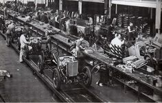 MG Factory at Abington 1932