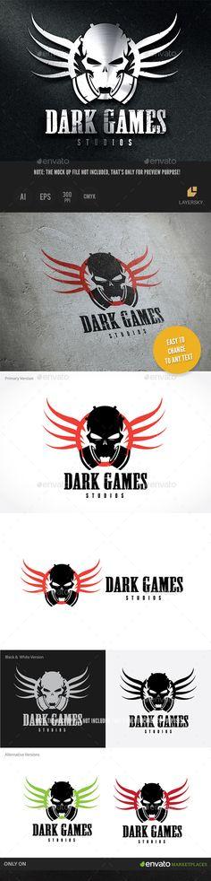 Dark Game Studios — Vector EPS #monster #t-shirt • Available here → https://graphicriver.net/item/dark-game-studios/8843409?ref=pxcr