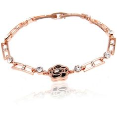 Hollow Out Rose Gold Bracelet ($11) ❤ liked on Polyvore featuring jewelry, bracelets, red gold jewelry, pink gold jewelry, rose gold jewelry, rose gold bangle and rose gold jewellery