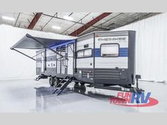 New 2020 Forest River RV Cherokee 274VFK Travel Trailer at Fun Town RV | Denton, TX | #162157 Attic Fan, Tv Bracket, Forest River Rv, Shower Surround, Gas And Electric, Cabinet Styles, Black Stainless Steel, Strip Lighting, Cherokee