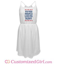 We The July Party People custom dress from Customized Girl #july4th #4thofjuly
