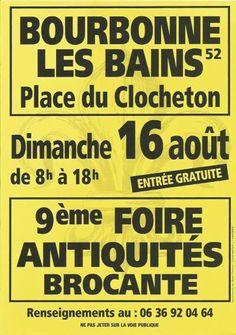 affiche 9ème FOIRE ANTIQUITÉS-BROCANTE