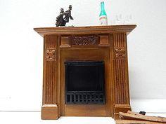 Olszewski Miniatures / An Elizabeth Walnut Fireplace