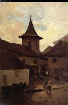 Catholic Church in Cimpulung - Nicolae Grigorescu Art History Major, Post Impressionism, Art Database, Sculpture, Kirchen, Modernism, Lovers Art, American History, Art Gallery