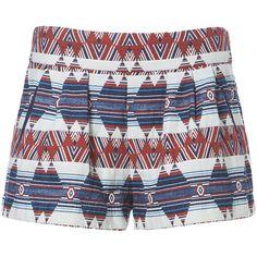 Zara Printed Bermuda Shorts ($70) ❤ liked on Polyvore