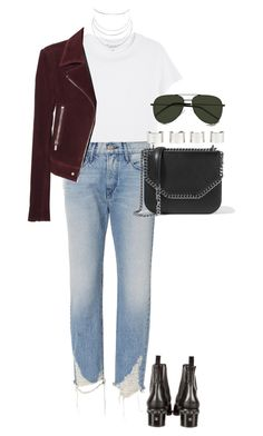 """""""Untitled #4241"""" by lily-tubman ❤ liked on Polyvore featuring Monki, 3x1, Chanel, Balenciaga, STELLA McCARTNEY, Maison Margiela, Yves Saint Laurent and Humble Chic"""