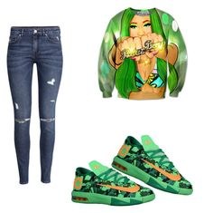 """""""Untitled #52"""" by destinygotem ❤ liked on Polyvore featuring H&M and NIKE"""