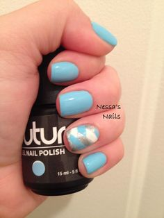 """""""Spa Day"""" by Nessa's Nails! Love this combo and nail art!"""