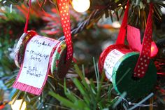 Remember your kids wishes with this cute Christmas List Ornament.... Life Sprinkled With Glitter