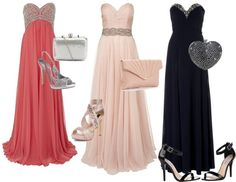 """""""Pretty Mother of the Quinceanera Strapless Looks Set"""" by my-perfect-quince on Polyvore"""