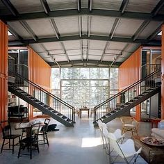 "good church design: Shipping Container Youth Room  - I really like the thematic idea of ""restoration"" -reclaiming old things for new purposes. speaks into a good theology. — Loren O'Laughlin"