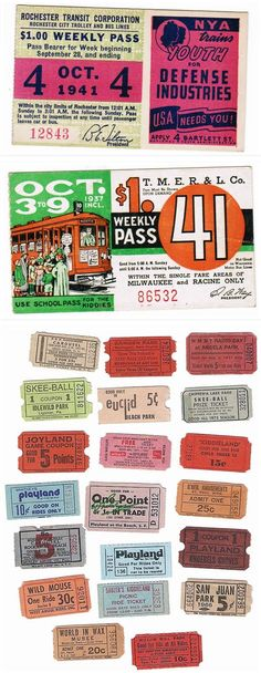 Vintage tickets  //  #Vintage #GraphicDesign #Inspiration