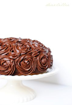 An Easy Chocolate Rosette Cake