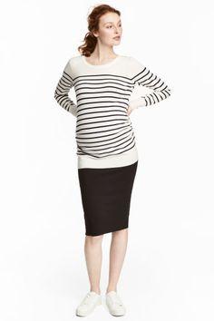 MAMA Jersey pencil skirt - Black - Ladies | H&M GB 1
