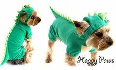 Roupa Forrada Fantasia Pet Dragão Verde - Frete Grátis - LEIA DESCRIÇÃO COM TAMANHOS E PRAZO DE ENTREGA