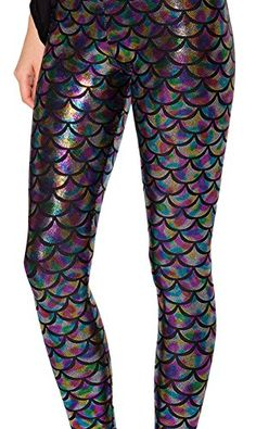 3db291cc16bb Find amazing Jescakoo Digital Print Mermaid Fish Scale Shiny Leggings for  Women Rainbow XL fish gifts for your fish lover.