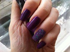 Purple caviar nail art for graduation ceremony :: one1lady.com :: #nail #nails #nailart #manicure