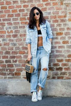 look double denim
