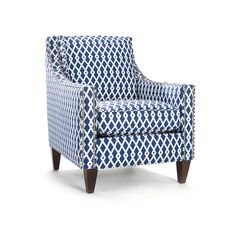 Pryce Ultramarine Geometric Pattern Arm Chair | Overstock™ Shopping - Great Deals on Living Room Chairs