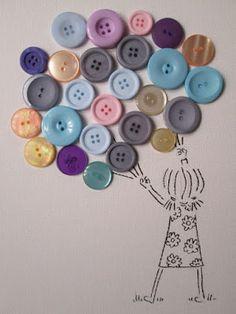 40 sugestões e idéias de arte com botões! - ESPAÇO EDUCAR