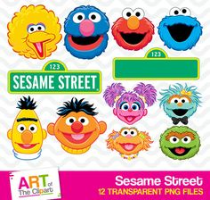 This item is unavailable Street Image, Street Art, Sesame Street Party, Charts For Kids, Kids Tv, Summer Sale, Birthday Parties, Pikachu, Clip Art