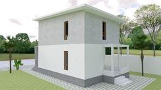 Small Home design Plan with 3 Bedroom - SamPhoas Plan Duplex House Design, Simple House Design, Minimalist House Design, Minimalist Home, Modern House Design, Bungalow, Model House Plan, Villa, Layout