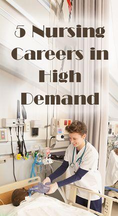 5 Nursing Careers in High Demand, via Medical Scrubs Collection Nursing Resume, Nursing Career, Travel Nursing, Careers In Nursing, Nursing Board, Nursing Fields, Nurse Anesthetist, Family Nurse Practitioner, Medical Careers