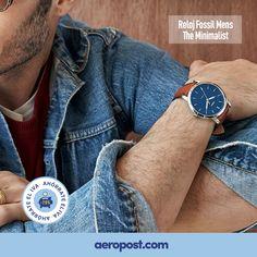 Moda casual, estilo único #Reloj Fossil.   ¡Y SI NO TE GUSTA, LO DEVUELVES! Forever 21, Fossil, Mesh, Ebay, Accessories, Fashion, Tents, Clocks, Style