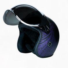 Bobber Helmets, Retro Motorcycle Helmets, Riding Helmets, Matte Black, Purple, Shop, Hair, Products, Viola