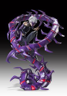 picture of Tokyo Ghoul Ken Kaneki Half-Kakuja Ver. Non-Scale Resin Figure 1