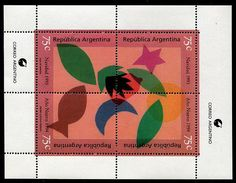 Argentina Stamps - Sc.# 1807 - Christmas 1993 Souvenir Sheet Postage Stamps, Countries, Christmas, Collection, Souvenir, Argentina, Xmas, Yule, Christmas Movies