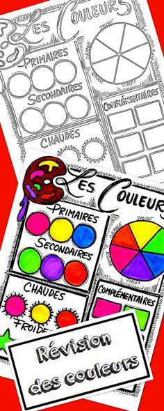 Une feuille reproductible, à faire remplir par vos élèves. Vous voyez ainsi si les différentes notions à propos des couleurs sont comprises.  Vous aurez aussi le corrigé, en couleur. Les couleurs complémentaires ne sont pas au programme au primaire mais elles sont très pratiques à savoir pour créer des contrastes. Vous pouvez vous servir de cette feuille comme enrichissement.