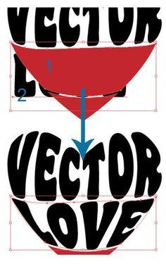 Illustrator Tutorial: Warp Text Inside A  Shape January 2013 | - Illustrator Tutorials & Tips