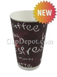Karat® 16oz Insulated Paper Hot Cups