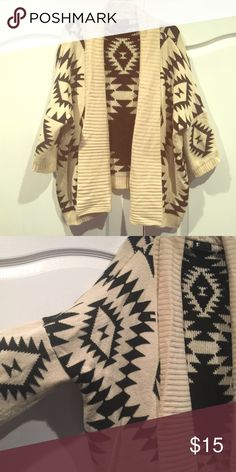 Geometric Aztec oversized cardigan sweater tribal Oversized sweater from boutique boutique Sweaters Cardigans