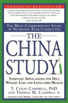 The China Study: The Most Comprehensive Study of Nutrition Ever Conducted and the Startling Implications for Diet, Weight Loss and Long-Term Health by T. Colin Campbell, http://www.amazon.com/dp/B0041D843M/ref=cm_sw_r_pi_dp_yM6bsb0RH5GG2 Kindle $8.98